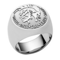 Mens Diesel Stainless Steel Ring Size R DX0693040508