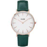 Damen Cluse La Boheme Rose Gold Lizard Uhren
