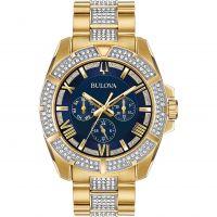 Herren Bulova Kristall Uhr
