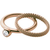 Ladies Skagen Rose Gold Plated Size S Elin Ring SKJ0852791510