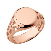Ladies Links Of London Rose Gold Plated Sterling Silver Timeless Extension Ring Size N
