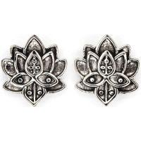 Damen Chrysalis Silber Plated Bodhi Lotus Blume Ohrringe