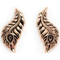 femme Chrysalis Bodhi Peacock Feather Earrings Watch CRET0411AR
