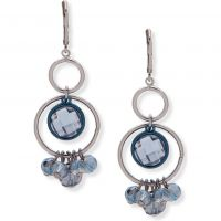 Ladies Anne Klein Silver Plated Only A Dream Earrings