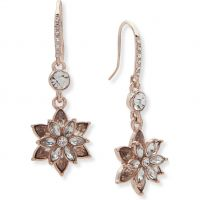 Ladies Anne Klein Rose Gold Plated Radiant Days Flower Earrings