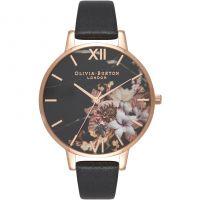 femme Olivia Burton Marble Floral Black & Rose Gold Floral Watch OB16CS01