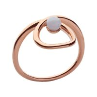 Ladies Links Of London Rose Gold Plated Sterling Silver Serpentine Blue Agate Stone Ring P