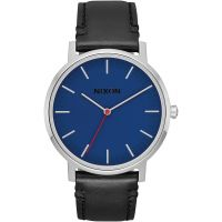 Nixon The Porter Leather Unisexklocka Svart A1058-1647