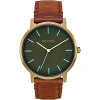 Unisex Nixon The Porter Leder Uhr
