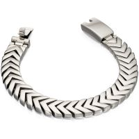 Mens Fred Bennett Stainless Steel Chevron Bracelet