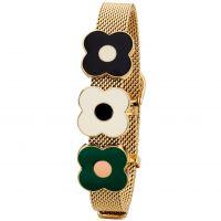 femme Orla Kiely Jewellery Abacus Flower Mesh Bracelet Watch B4988