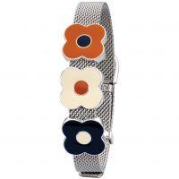 Damen Orla Kiely Silber Plated Abacus Blume Maschen Armband