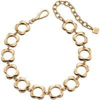 Damen Orla Kiely vergoldet offen Blume Choker Halskette
