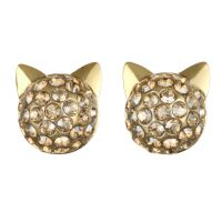 Ladies Karl Lagerfeld Gold Plated Choupette Earrings 5378065