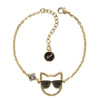 Ladies Karl Lagerfeld Gold Plated Sunglasses Choupette Bracelet