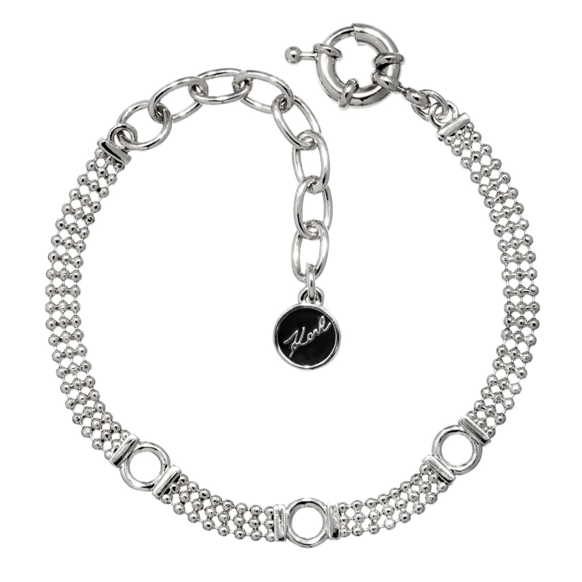 Karl Lagerfeld Dames Ball Chain Charm Bracelet Verguld Zilver 5378147 Nl Watch