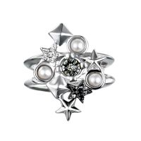 Karl Lagerfeld Jewellery Eclectic Stud Cluster Ring Size N JEWEL