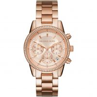 Damen Michael Kors Ritz Chronograph Watch MK6357