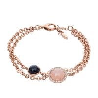 Ladies Fossil Rose Gold Plated Bracelet JF02505791