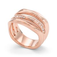 Ladies Fossil Rose Gold Plated Size L.5 Ring Size L.5