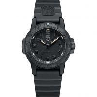 Mens Luminox 0300 Series Leatherback Sea Turtle Blackout Watch