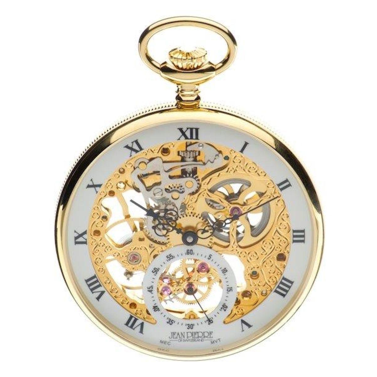 jean pierre open face pocket orologio da orologio da jp
