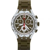 homme Swatch Green Attack Chronograph Watch YYS4022AG