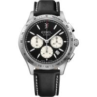 homme Ebel Wave 40mm Chronograph Watch 1216404