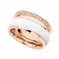 Damen Fossil Rose vergoldet Ring Größe Q
