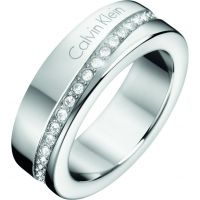 Ladies Calvin Klein Stainless Steel Size L Hook Ring KJ06MR040206
