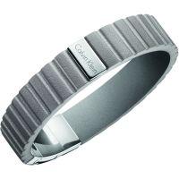 homme Calvin Klein Jewellery Plate Leather Bracelet Watch KJ5SAB090100