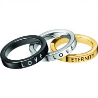 Ladies Calvin Klein Multi colour gold Size N Hook Ring Set