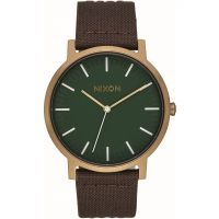 Mens Nixon The Porter Leather Watch
