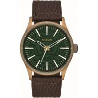 Mens Nixon The Sentry 38 Leather Watch