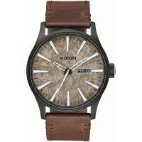 Herren Nixon The Sentry Leather Watch A105-2867