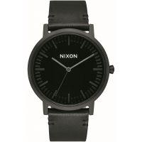 Unisex Nixon The Porter Leder - Stark Contrast Uhren