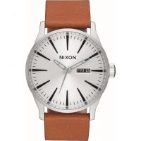 Herren Nixon The Sentry Leather Watch A105-2853
