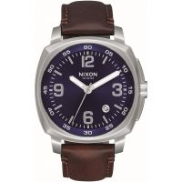 Nixon The Charger Leather Herenhorloge Bruin A1077-1524