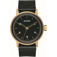 Mens Nixon The Stark Leather Watch