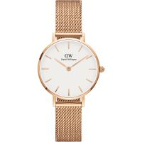Damen Daniel Wellington Classic Petite 28 Melrose White Watch DW00100219