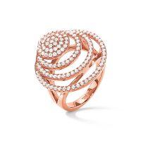 femme Folli Follie Jewellery Sterling Silver Cyclos CZ Ring Size L.5 Watch 5045.6753