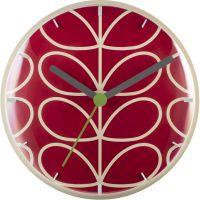 horloge Orla Kiely Clocks Geranium Wall Clock OK-WCLOCK04