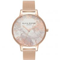 Femmes Olivia Burton Abstract Fleuris Rose Or Maille Montre