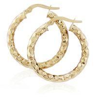 Jewellery Hammered Hoop Earrings Watch ER908