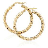 Jewellery Hammered Hoop Earrings Watch ER909