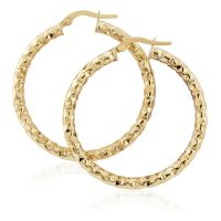 Jewellery Hammered Hoop Earrings JEWEL ER910