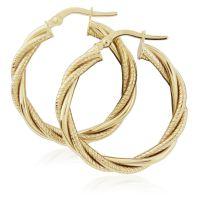 Jewellery Twist Hoop Earrings Watch ER917