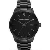 unisexe Larsson & Jennings Saxon 39mm Watch SAX39-3LBLK-C-A-B-BB-O