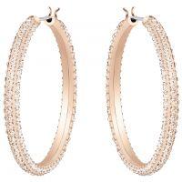 femme Swarovski Jewellery Stone Hoop Earrings Watch 5383938