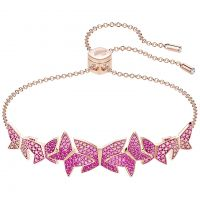 Ladies Swarovski Rose Gold Plated Lilia Butterfly Slider Bracelet